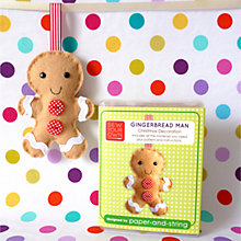 Buy Sew Your Own Christmas Decoration Mini Kit, Gingerbread Man Online at johnlewis.com