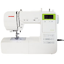 Buy Janome 5030 Sewing Machine, White Online at johnlewis.com