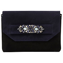 Buy Dune Butterfly Embellished Clutch Bag, Navy Suede Online at johnlewis.com
