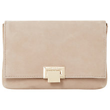Buy Dune Esmay Flap Over Clutch Bag, Taupe Suede Online at johnlewis.com