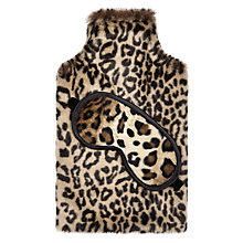 Buy John Lewis Hot Water Bottle and Eye Mask Set, Leopard Print Online at johnlewis.com