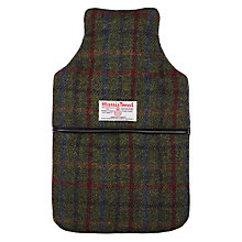 Buy John Lewis Harris Tweed 2 Litre Hot Water Bottle, Green Online at johnlewis.com