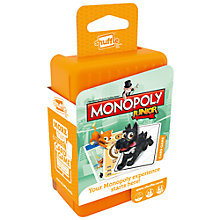 Buy Monopoly Junior Shuffle Card Game Online at johnlewis.com