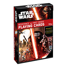 Buy Star Wars Episode VII: The Force Awakens Resistance Vs. First Order Playing Cards Online at johnlewis.com