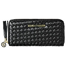 Buy Et DAY Birger et Mikkelsen Braided Leather Purse, Black Online at johnlewis.com