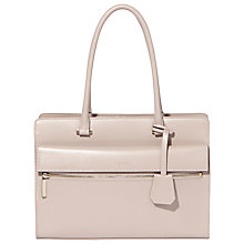Buy Modalu Erin Structured Leather Tote Bag, Shark Online at johnlewis.com
