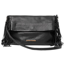 Buy Et DAY Birger et Mikkelsen Day Fringes Leather Clutch Bag, Black Online at johnlewis.com