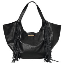 Buy Et DAY Birger et Mikkelsen Leather Fringes Shoulder Bag, Black Online at johnlewis.com
