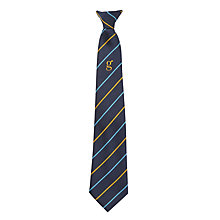 "Buy Goffs School Clip-On Eagle House Tie, L52"", Navy/Multi Online at johnlewis.com"