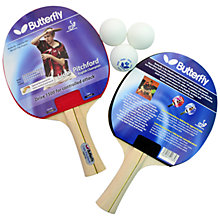 Buy Butterfly Liam Pitchford Table Tennis Bats and Balls Set Online at johnlewis.com