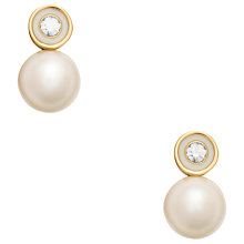 Buy kate spade new york Large Pearl Stud Earrings, Gold Online at johnlewis.com