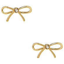 Buy kate spade new york Glass Stone Bow Stud Earrings, Gold Online at johnlewis.com