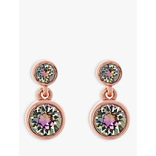 Buy Karen Millen Swarovski Crystal Dot Drop Earrings Online at johnlewis.com