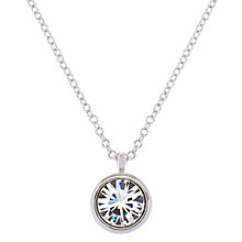 Buy Karen Millen Swarovski Crystal Dot Pendant Necklace Online at johnlewis.com