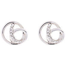 Buy Karen Millen Swarovski Crystal Ribbon Stud Earrings Online at johnlewis.com