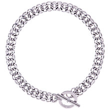 Buy Karen Millen Encrusted Bar & Hoop Necklace, Silver Online at johnlewis.com