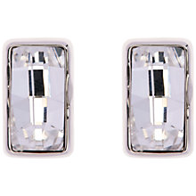 Buy Karen Millen Luxe Oblong Crystal Stud Drop Earrings, Silver Online at johnlewis.com