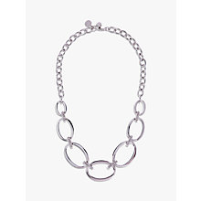Buy Karen Millen Oversize Chain Necklace, Silver Online at johnlewis.com