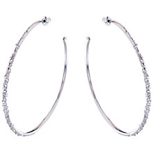 Buy Karen Millen Sprinkle Large Crystal Hoop Earrings Online at johnlewis.com