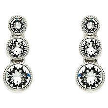 Buy Cachet London Rhodium Plated Swarovski Crystal Stud Earrings, Silver Online at johnlewis.com