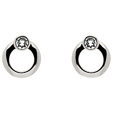 Buy Cachet Polished Plated Swarovski Crystal Stud Earrings Online at johnlewis.com