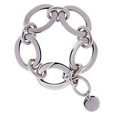 Buy Karen Millen Silver Toned Custom Chain Bracelet, Silver Online at johnlewis.com