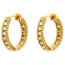 Buy Finesse Gold Plated Cubic Zirconia Hoop Earrings, Gold Online at johnlewis.com