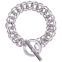 Buy Karen Millen Encrusted Bar & Hoop Bracelet, Silver Online at johnlewis.com