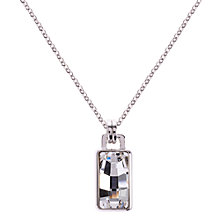 Buy Karen Millen Luxe Oblong Crystal Pendant Drop Necklace, Silver Online at johnlewis.com