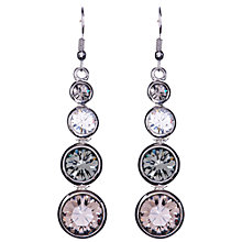Buy Karen Millen Swarovski Teardrop Earrings, Silver Online at johnlewis.com