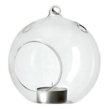 Buy John Lewis Hanging Glass Tealight Holder, Small Online at johnlewis.com