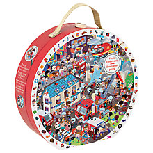 Buy Janod Fireman Heroes 2 In 1 Observation Puzzle, 208 Pieces Online at johnlewis.com
