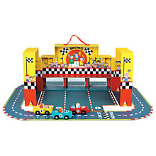 Buy Janod Grand Prix Carry Case Play Set Online at johnlewis.com
