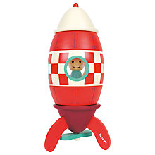 Buy Janod Magnet Rocket Toy, Large Online at johnlewis.com