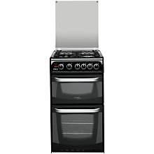 Buy Hotpoint CH50GCIK Cannon Gas Cooker, Black Online at johnlewis.com