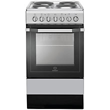 Buy Indesit I5ESH1(S)/UK Electric Cooker, Silver Online at johnlewis.com