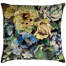 Buy Designers Guild Bloomsbury Rose Floor Cushion, Indigo Online at johnlewis.com