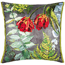Buy Designers Guild Tulipani Cushion, Graphite Online at johnlewis.com