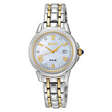 Buy Seiko SUT244P9 Women'sTwo Tone  Bracelet Strap Watch, Silver/Gold Online at johnlewis.com