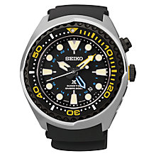 Buy Seiko SUN021P1 Men's Prospex Diving Silicone Strap Watch, Black Online at johnlewis.com