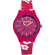 Buy Superdry Syl166pp Women's Urban Silcone Liberty Watch Online at johnlewis.com