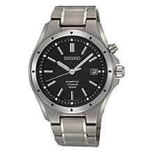 Buy Seiko SKA493P1 Men's Titanium Bracelet Strap Watch, Silver Online at johnlewis.com