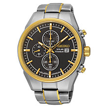 Buy Seiko SSC392P9 Men's Titanium Bracelet Strap Watch, Silver/Gold Online at johnlewis.com