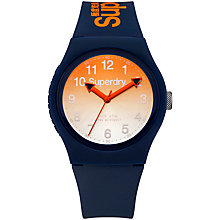 Buy Superdry Unisex Urban Laser Silicone Strap Watch Online at johnlewis.com