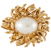 Buy Susan Caplan Vintage 1960s Oscar De La Renta Gold Plated Faux Pearl Flower Brooch, Gold Online at johnlewis.com