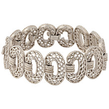 Buy Susan Caplan Vintage 1960s Trifari Silver Plated Scalloped Bracelet, Silver Online at johnlewis.com