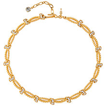 Buy Susan Caplan Vintage 1970s Trifari Gold Plated Swarovski Crystal Rope Necklace, Gold Online at johnlewis.com