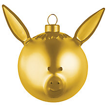 Buy Alessi Asinello Christmas Bauble Decoration, Gold Online at johnlewis.com
