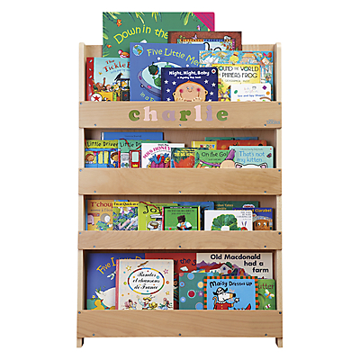 Tidy Books Personalised ABC Bookcase, Natural