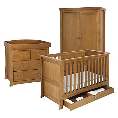 Silver Cross Canterbury Bed, Dresser and Wardrobe Set, Oak